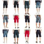 New Levi's Men's 569 Loose Straight Stretch Denim Shorts Zipper Fly Knee Length