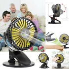 Rechargeable Battery Operated Clip on Mini Desk Fan Stroller Fan w/ USB Cool Fan