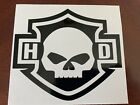 Harley Davidson Skull Vinyl Decal $4.5 USD on eBay