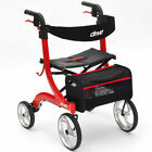 Drive Nitro Lightweight Folding 4 Wheel Rollator Walker Walking Frame with Seat
