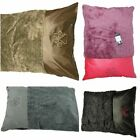 Thick Fleece Fur Dog Pet Bed Pillows - Accented Leather Washable Zipped Cushions