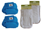 Kashmir Baby 2 Pack Bamboo/Organic One Size Diapers, 2 Bamboo Inserts
