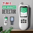 7In1 Air Quality Monitor PM 2.5 10 Formaldehyde HCHO TVOC Digital Laser Detector