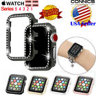 For Apple Watch Series 4/5 44/40 Diamond Bling Crystal iWatch 3 2 Protector Case image