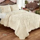 Plush Quilt Bedding Elegant Ultra Soft Faux Fur with Scalloped Edges Decor Multi image