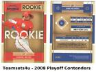 2008 Playoff Contenders Baseball Set ** Pick Your Team ** See Checklist on Ebay