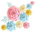20/30/40cm Paper Flowers Backdrop For Wall Decoration Large Rose Flower Wedding