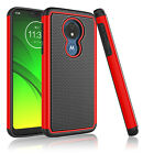 For Motorola Moto G7 Power/Plus/Play Phone Hybrid Silicone Shockproof Case Cover