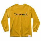 Diamond Supply Co. Men's OG Script Fasten Long Sleeve T Shirt Yellow Clothing