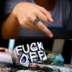 Women Men Fuck-off Gothic Funny Punk Rock Biker Finger Rings Fashion Jewelry