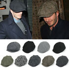 Mens Women Herringbone Newsboy Ivy Cap Casual Beret Golf Tweed Cabbie Gatsby Hat