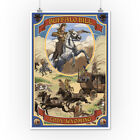 Buffalo Bill Scene - Cody, WY (Art Posters, Wood & Metal Signs, Canvas, Totes)