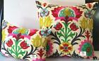 Waverly Santa Maria Desert Flower Indoor Pillow Cover with Solid Color Backing