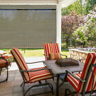 Outdoor Window Shade Exterior Solar Roll Up Patio Curtain Treatment Porch Blind