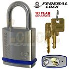 Federal FD840 Heavy Duty Solid Stainless Steel Marine Weather Resistant Padlocks
