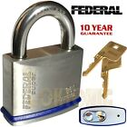 Federal FD860 Heavy Duty Solid Stainless Steel Marine Weather Resistant Padlocks