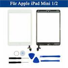 For iPad Mini 1 2 Touch Screen Glass Digitizer Replacement IC Chip Home Button F