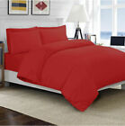 FITTED SHEET/FLAT/DUVET COVER 1000TC EGYPTIAN COTTON RED SOLID US~QUEEN,TWIN image