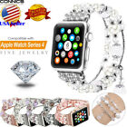 Fashion Women Girls Jewelry Beads Band Strap For Apple Watch Series 4 5 40/44mm image