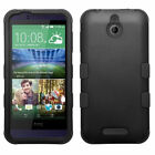 Impact Hard Case +Silicone Hybrid Protector TUFF Cover for HTC Desire 510