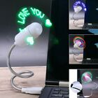 Flexible USB Fans Character Programmable Texts LED Lights PC Gadgets Accessories