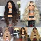 Hair Wig Long Kinky Curly Long Ombre Blonde/Brown Full Wigs for Women Gift CA
