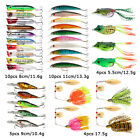 Goture Fishing Lures Lot Popper Minnow Hard Bait Spoon Bass Carp Fishing Tackle