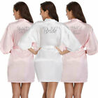 Personalised Bride Satin Silk Robe Wedding Maid Of Honor Bridesmaid Party Grown
