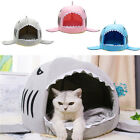 Dog Bed Shark Mouse Shape Washable House Pet Bed Cats House w/ Removable Cushion