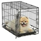 MidWest Homes Pets Dog Cat Folding Metal Dog Crates Single Door & Double Door