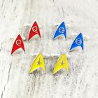 Star Trek Insignia Cuff Links, red yellow blue delta cufflinks original series on eBay