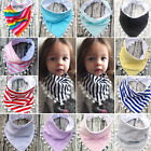 Baby Boy Girls Saliva Towel Bandana Bibs Dribble Triangle Kids Head Scarf HOT