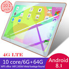 10.1 Inch WIFI/4G-LTE HD PC Tablet Android 8.1 Bluetooth 6 64G 2 SIM  Camera NEW