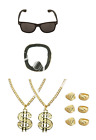 Ali G Gangster Funny Rapper Stag Night TV Star 90s Pimp Fancy Dress Set - 6