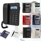 W218 Corded Telephone Home Office Desktop LCD Phone Caller ID Answer Machine ABS
