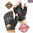 New Half Finger Leather Gloves Wheelchair Cycling Driving Bike Sports Fingerless