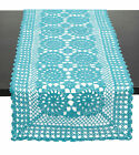 Внешний вид - Fennco Styles Handmade Crochet Lace Cotton Table Runner, Many Colors & Sizes