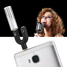 Pro Condenser Microphone Mic Recording w/ 1-2 Adapter for iPhone/iPad/Android