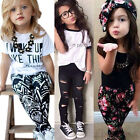 Toddler Kids Baby Girls Outfits Clothes T-Shirt Tops Coat Pants Tracksuit 2PCS