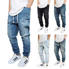 Внешний вид - MEN'S DROP CROTCH DENIM JOGGER PANTS 5 COLORS S-5XL BIG&TALL *FAST SHIPPING*