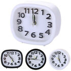 Square/Round Quartz Alarm Clock Home Office Small Snooze School Dormitory Room