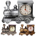 Retro Train Engine Alarm Clock Analogue Room Bedside Table Desk Home Decor Gifts