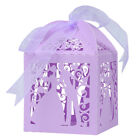 25-100Pc Paper Candy Ribbon Gift Boxes Bride and Groom Wedding Event Favor Boxes