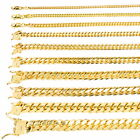 "10K Yellow Gold Solid 2.7mm-10mm Miami Cuban Link Chain Necklace Bracelet 7""-30"" image"