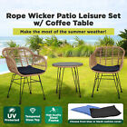 Garden Furniture Outdoor Setting Wicker Cushioned Chair With Table