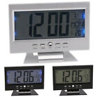 Battery Digital Alarm Clocks LCD Temperature Calendar Snooze Gifts Display Home