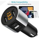 Bluetooth Wireless FM Transmitter In-Car MP3 Radio Adapter Car Kit 2 USB Charger