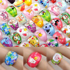 Kyпить 50pcs Wholesale Mixed Lot Bulk Cartoon Children/Kids Resin Lucite Rings Jewelry на еВаy.соm