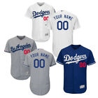 2019 New Customized Los Angeles Dodgers Flex Base MLB White/Gray/Blue Jersey on Ebay