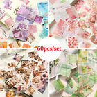 60pcs/set Scrapbooking Stationary Diary Label Phone Decor Stickers Paper Sticker